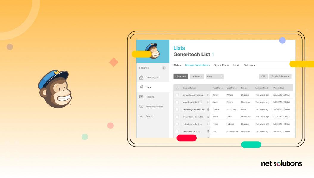 mailchimp | web app development example