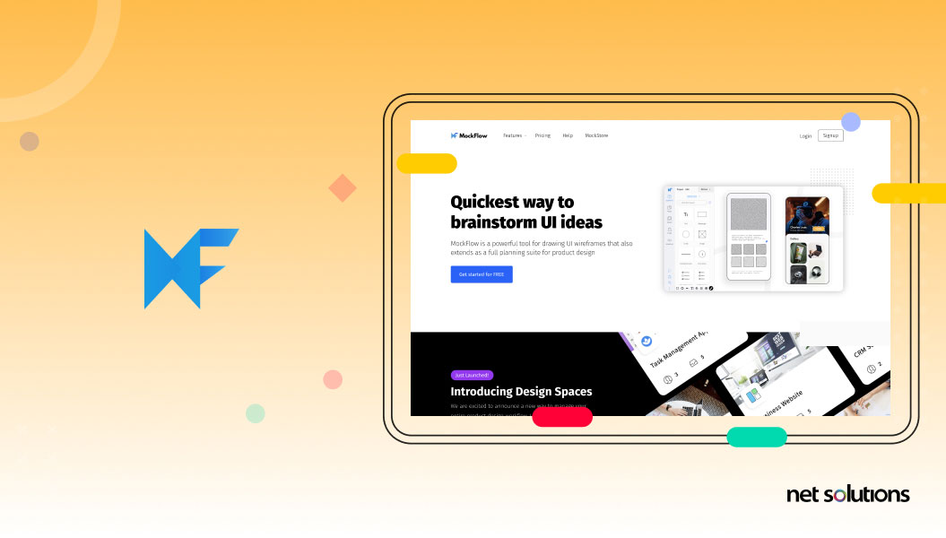 mockflow - wireframe and prototyping
