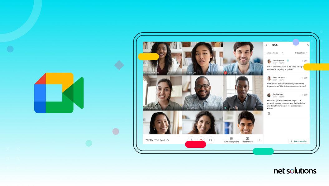 progressive web apps example - google meet